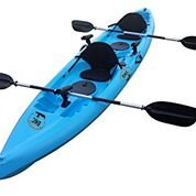 BKC UH-TK181 12.5 foot Sit On Top Tandem Fishing Kayak Paddles and Seats included (Blue)