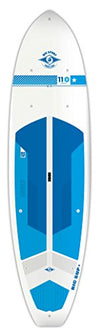 BIC Sport ACE-TEC Cross Sup Stand Up Paddleboard, Gloss White/Blue/Blue, 11'0