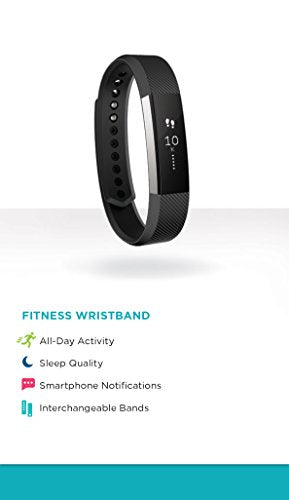 Fitbit Alta Fitness Tracker, Silver/Black, Small (US Version)