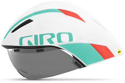 Giro Aerohead MIPS Bike Helmet - White/Turquoise/Vermillion Medium