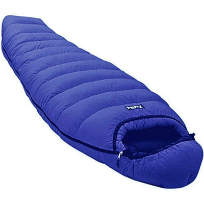 "TAIGA Morning Star 800+ Fillpower European Goosedown Sleeping Bag, Mummy Style, (choices: -5°C/23°F or -11°C/12.2°F) (Left Zip), Including Stuffsack, German Designed, MADE IN CANADA, Large (Girth: 64""; fits 6'4""), 0.00degrees-fahrenheit"