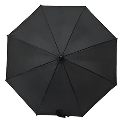 "LILAC Classic Wooden Umbrella Auto Open Large Golf Umbrellas for Men Windproof Waterproof Reinforced Canopy Easy Carrying 47"" Black"