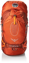 Osprey Men's Atmos AG 50 Backpack (2017 Model), Cinnabar Red, Small