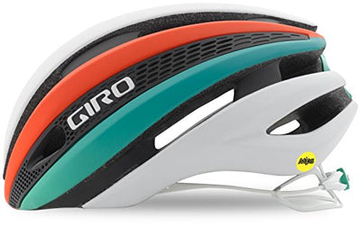 Giro Synthe MIPS Bike Helmet - Matte White/Turquoise/Vermillion Medium