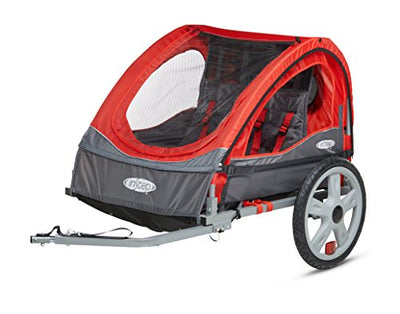 InStep Take 2 Double Bicycle Trailer, Red