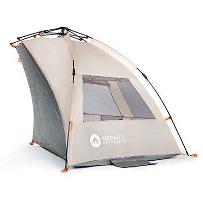 Easthills Outdoors Easy Up Beach Tent Sun Shelter - Extended Zippered Porch Included