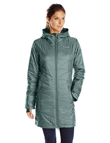 Columbia Women's Mighty Lite Hooded Jacket, Pond, Medium