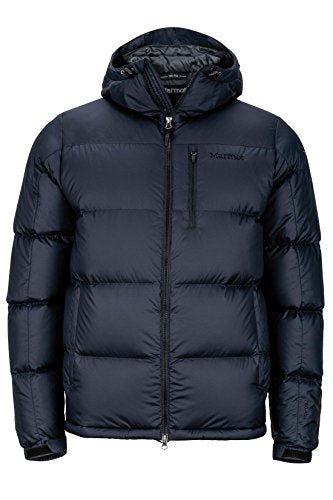Marmot Guides Down Hoody Men's Winter Puffer Jacket, Fill Power 700, Jet Black, Large