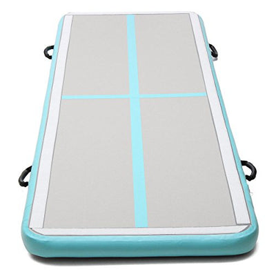 Winnerbe 118x39x4inch Airtrack Air Track Floor Home Inflatable Gymnastics Tumbling Mat GYM with Free Pump