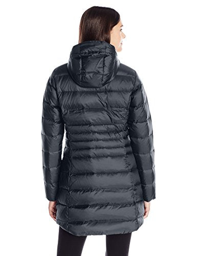 Columbia Women's Hellfire Mid Down Hooded Jacket, Black, Large