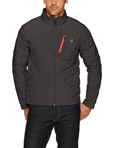 Spyder Men's Syrround Full Zip Down Jacket, Black, XX-Large