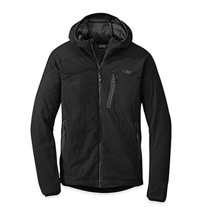 Outdoor Research Men's Uberlayer Hooded Jacket, Black, L