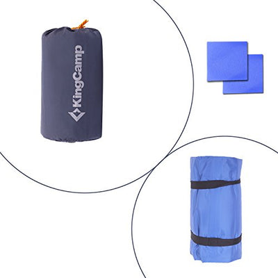 KingCamp Light Single / Double Outdoor Camping Sleeping Air Mattress Mat Pad Bed with Built-in Foot Pump