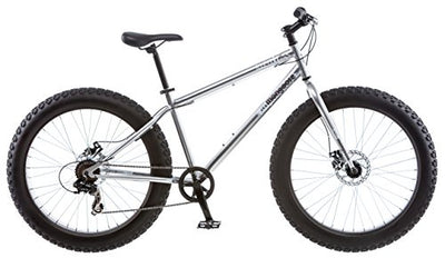 Mongoose Men's Malus Fat Tire Bike, Silver