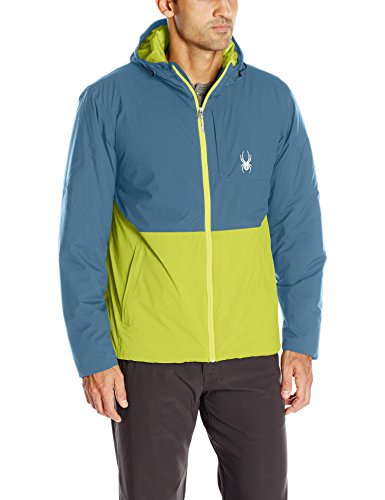 Spyder Men's Berner Jacket, Sulfur/Union Blue/Sulfur, Medium