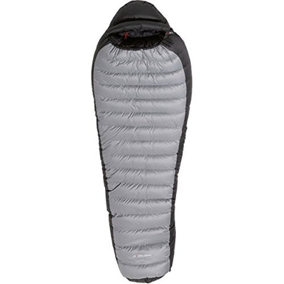 Yeti International Fusion Dry 1300+ Sleeping Bag: -2 Degree Down Silver Grey, Black/Black, Extra Long/Left Zip