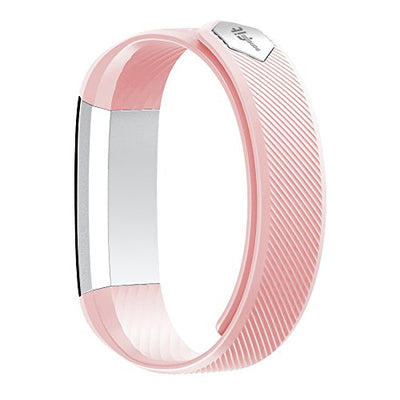 Fitness Tracker, MoreFit Slim Touch Screen Activity Health Tracker Wearable Pedometer Smart Wristband, Silver/Blush