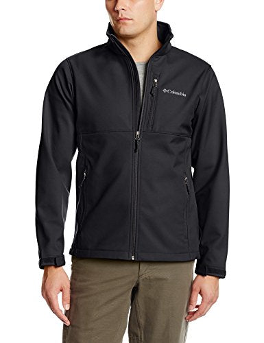 Columbia Men's Ascender Softshell Jacket, Black, Large