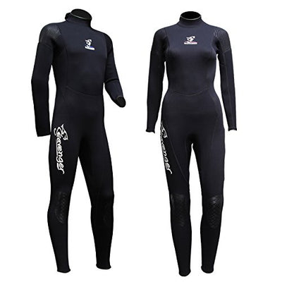 Seavenger Men and women 3mm Full Suit Flatlock Stitching Jumpsuit with Super-stretch Armpit Wetsuits