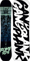 Rome Snowboards Gang Plank Snowboard, Black, 160 W