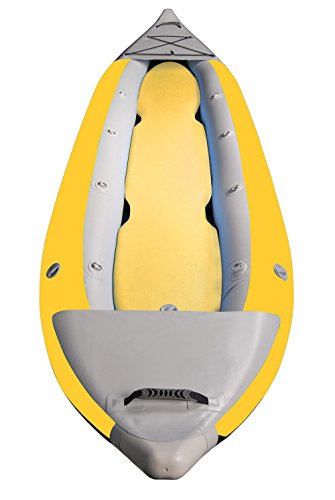 Brooklyn Kayak Company BKC UH-IK290 2-Person Inflatable Touring 12-foot,  6-inch Kayak with Pump, Storage Bag, and Repair Kit Included (Yellow)