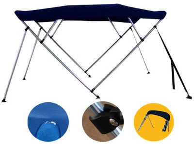 Brightent Bimini Top 6 Different Size 3-4 Bow Boat Canopy Cover with Free Support Poles and Towel Clips