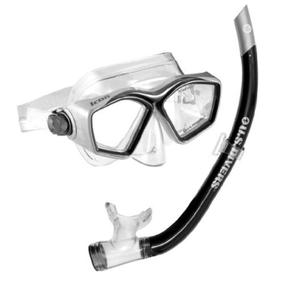 U.S. Divers Icon Mask and Airent Snorkel, Black