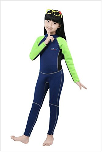 7a8712e72c77d Neoprene Wetsuits for Kids Boys Girls Back Zipper One Piece Swimsuit UV  Protection-Brand NatyFly