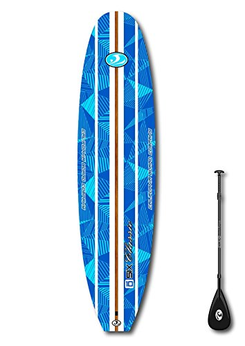 "CBC 10'6"" Classic Foam Paddle Board SUP Package: Adjustable Paddle, SUP Leash, Three Fins, Camera Mount, Protective Tail Cap & Roof Racks!"