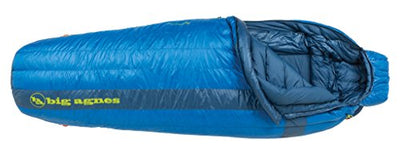 Big Agnes - Mystic UL 15 Sleeping Bag with DownTek Fill, Blue, Long Right