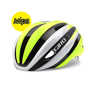 Giro Synthe MIPS Equipped Bike Helmet - White/Highlight Yellow Medium