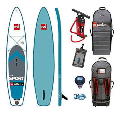 "Red Paddle Co SPORT MSL 12'6 x 30"" (2017 Series) Includes Bundle. Titan Pump - Backpack - ERS Pressure Gauge + Pumped Up SUP Sticker"