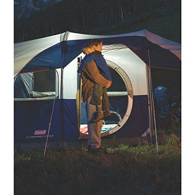Coleman Elite WeatherMaster Tent - 17'x9' 6 Person Cabin Tent with LED Light System & Screenroom