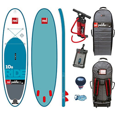 "Red Paddle Co RIDE MSL 10'8 x 34"" (2017 Series) Includes Bundle. Titan Pump - Backpack - ERS Pressure Gauge + Pumped Up SUP Sticker"