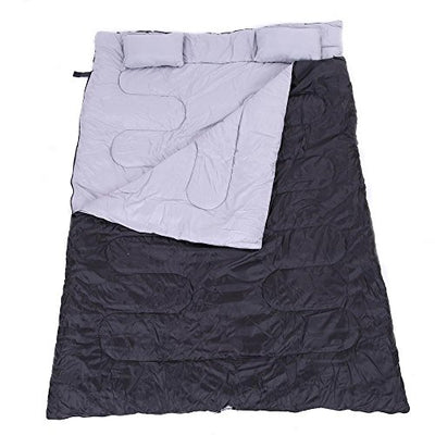 "Generic O-8-O-1726-O W/2 Pi Camping Hiking 86""x60"" g 86""x6 23F/-5C 2 Person mping H Huge Double 2 Pers W/2 Pillows New ng Bag Sleeping Bag HX-US5-16Mar28-423"