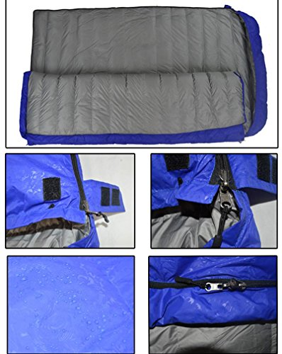 Envelope Goose Down Sleeping Bag Ultra-Light Outdoor Camping Equipment Adult Increase Travel Sleeping Bag 600g-2000g , red , 4000g