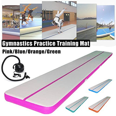 Winnerbe 196x39x3.93inch Inflatable Air Track Gymnastics Practice Training Tumbling Pad Gym Mat Orange