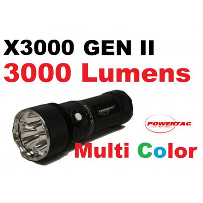PowerTac X3000 Flashlight, 3000 lm