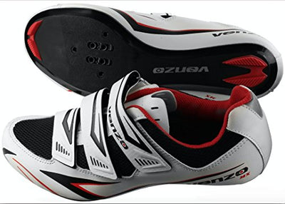 Venzo Road Bike For Shimano SPD SL Look Cycling Bicycle Shoes 42.5
