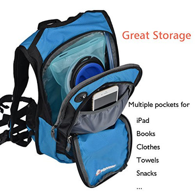 Miracol Hydration Backpack with 2L Water Bladder