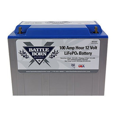100 Ah Lifepo4 12 Volt Deep Cycle Battery Outdoor Chimp