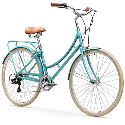sixthreezero Ride in the Park Women's 7-Speed City Road Bicycle, 17-Inch Frame/700C Wheels, Blue