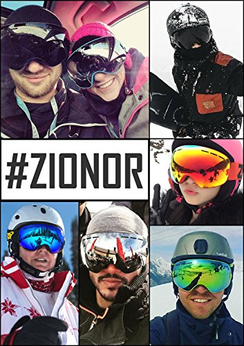 7981d8cb119 ZIONOR Lagopus X Ski Snowboard Goggles Full Mirror Coated Lens Spherical  Lens UV Protection Anti-