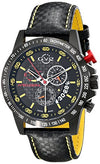 GV2 by Gevril Men's 9901 Scuderia Analog Display Swiss Quartz Black Watch