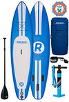 iRocker Paddle Boards Inflatable 11-Feet Long X 6-Inch Thick SUP Package (Blue + Leash) …