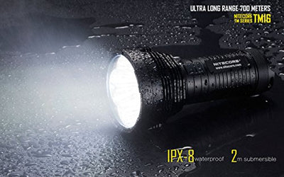 Nitecore TM16GT 3500 Lumen Ultra Long Range Handheld Search Light - 700m Throw w/Nitecore EH1 Headlamp (w/4x NL189 & D4 Charger & Flashlight)