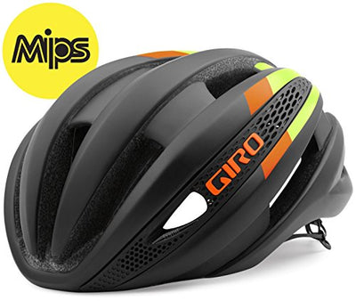 Giro Synthe MIPS Helmet - Matte Black/Lime/Flame Small