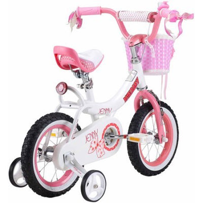 Royalbaby Jenny Princess Pink Girl's Bike with Training Wheels and Basket, Perfect Gift for Kids (Pink, 16 inch)