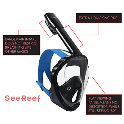 Full Face Snorkel - Snorkeling Mask Set New 2017 Design