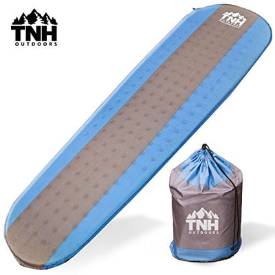 Self Inflating Sleeping Pad Lightweight Foam Padding and Superior Insulation Great For Hiking & Camping Thick Outer Skin